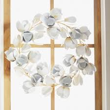plow hearth 19 metal magnolia wreath reviews wayfair