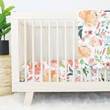 Floral Crib Bedding Sets Secret Garden Watercolor Floral Baby Bedding Caden