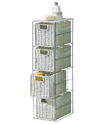 White Wicker Bathroom Storage Fantastic Looking Stylish Slimline 4 Drawer Storage Tower Metal