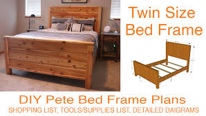 Diy Wood Twin Bed Frame by Diy Bed Frame Plans How To Make A Bed Frame With Diy Pete