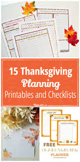 15 thanksgiving planning printables and checklists tip junkie