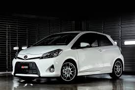 toyota vitz yaris grmn turbo details and pictures video