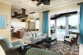 Coastal Cottage Living Rooms by Starfish Rug Living Room Beach With Beach Cottage Beach Home Blue