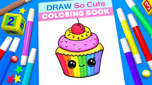 cupcake coloring page for kids learn colors youtube