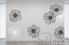 Premium Large Flowers Floral Wall Art Decal Vinyl Sticker Home