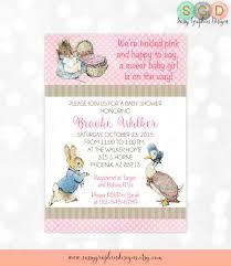 rabbit baby shower rabbit baby shower invitation girl baby shower invite