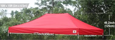 Awning Weights Abccanopy 10x15 Pop Up Canopy Replacement Top 100 Waterproof