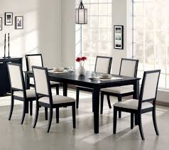 Black Dining Table With Leaf Coaster 101561 Louise Rectangular Black Dining Table With Leaf