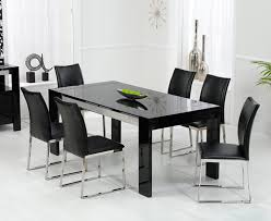 Dining Room Table Black - Black dining table for 10