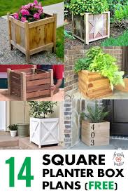 Patio Planter Box Plans by 14 Square Planter Box Plans Best For Diy 100 Free