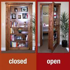 Minecraft Secret Bookshelf Door Room Design With White Hidden Door Bookcase Decor Ideas