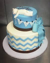 baby shower cake with fondant bear u2014 trefzger u0027s bakery