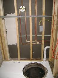 how to finish a basement bathroom water supply plumbing