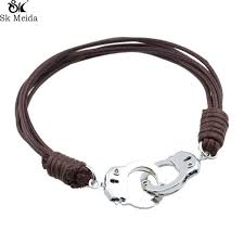 s day bracelet handcuffs bracelets for men charms leather bracelet