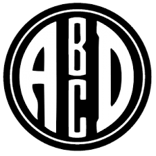 monogram initials circle monogram font free create online with free monogram maker