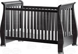 Crib With Mattress An Fashioned Gray Baby Crib With Mattress Clipart