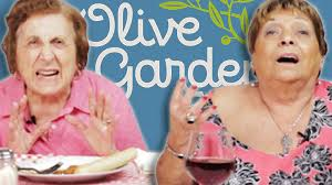 olive garden thanksgiving italian grandmas try olive garden for the first time youtube