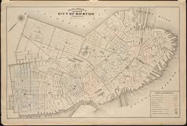 Map Of Boston outline and index map of city of boston proper norman b