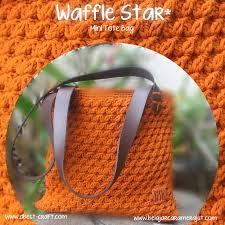 tutorial merajut alas tas tutorial merajut tas motif waffle star