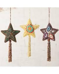 hello holidays 52 appliquéd tree ornaments set of 3