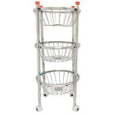 fruit and vegetable baskets trolley stainless steel fruit vegetable basket by lalit fruit