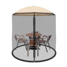 Patio Umbrella With Screen Enclosure Patio Umbrella Cover Mosquito Netting Screen For Patio Table