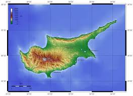 map of cyprus cyprus topo map mapsof