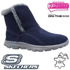 skechers womens boots uk skechers pull on winter boots for ebay
