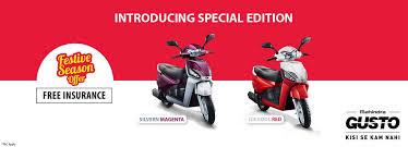 mahindra gusto dual tone edition priced at inr 49 350