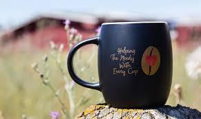 Elegant Coffee Mugs Coffee Mug With City Centre Coffee Logo 14 Oz