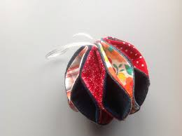 christmas bauble tutorial crafts sewing circular and flower