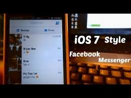 facebook themes and skins for mobile winterboard theme ios 7 style for facebook messenger ios 6 x youtube
