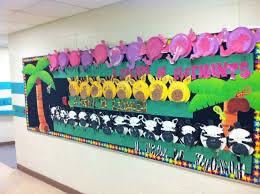 preschool safari bulletin board