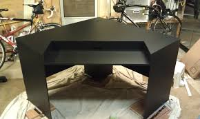 furniture modern dark gaming station computer desk design for