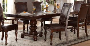 Double Pedestal Dining Room Tables Homelegance Lordsburg Double Pedestal Dining Table Brown Cherry