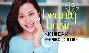 beauty basic skin care evening routine youtube