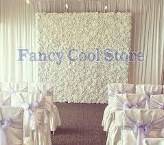 wedding backdrop flower wall 2 4m x 2 4m white wedding flower backdrop flower wall with