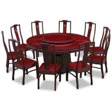 Round Dining Table With Armchairs Lazy Susan Dining Set Foter