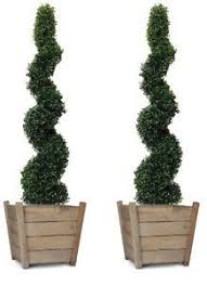 2 x best quality artificial spiral boxwood topiary trees 120cm 4ft