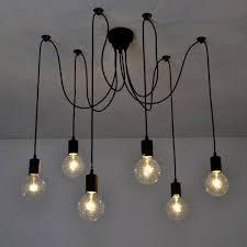 Light Bulb Ceiling Light 2018 6 8 10 Heads Mordern Nordic Retro Edison Bulb Light
