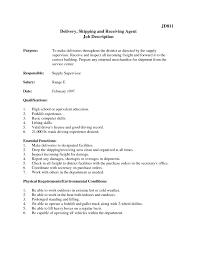 Resume Job Description For Forklift Operator by Shipping And Receiving Job Description For Resume Free Resume