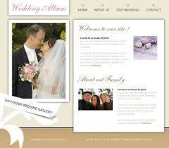 free wedding websites with free website templates with wedding theme 1