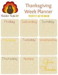 free thanksgiving planner printables daily dish magazine