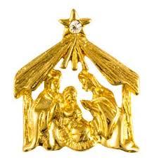 christmas manger christmas manger nativity pin gold