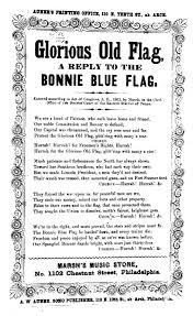 The Bonnie Blue Flag America Singing Nineteenth Century Song Sheets Pennsylvania