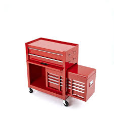 rolling tool storage cabinets steel roller 2 piece cabinet tool chest 6 drawer red