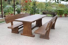 panchina in legno da esterno arredamento giardino tavolo e panche da taverna
