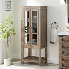 how to clean wood cabinets in bathroom 24 wakefield linen storage cabinet gray wash pine