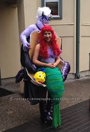 Ariel Mermaid Halloween Costume Amazing Ursula Ariel Mermaid Illusion Costume