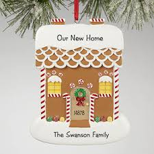 personalized ornaments gingerbread house